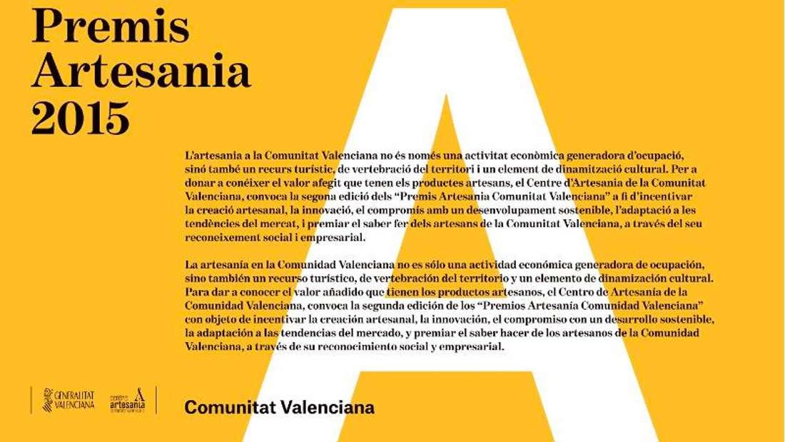 Premios Artesanía Comunidad Valencia